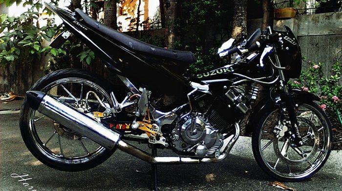 Modifikasi Motor Satria Fu Warna Hitam Motor Warna