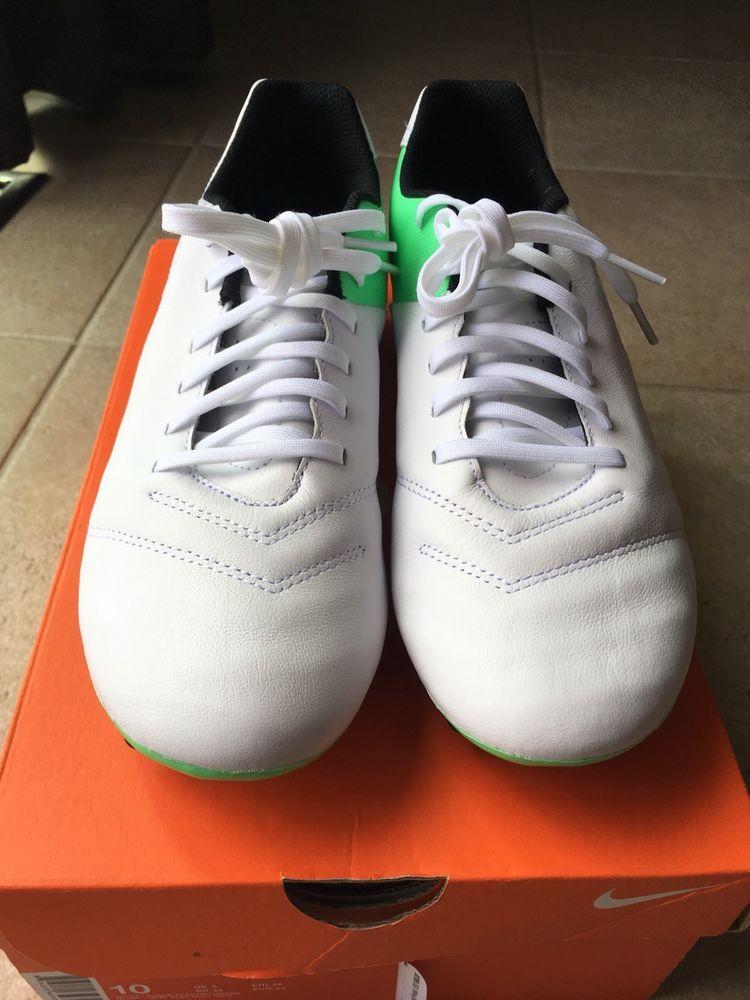 sneakers for cheap 1110d a98d0 Nike Tiempo Genio II Leather FG Men s White ElecGreen Black (819213 103) Sz  10.5 (eBay Link)
