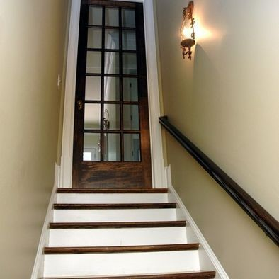 basement stairs looking down. Martina Basement Staircase  traditional staircase atlanta Phoenix Renovations Love the idea of a glass door going down to basement Design Pictures Remodel Decor and Ideas