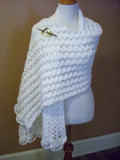 One Skein Summer Wrap By Marty Miller - Free Crochet Pattern - (rav ...