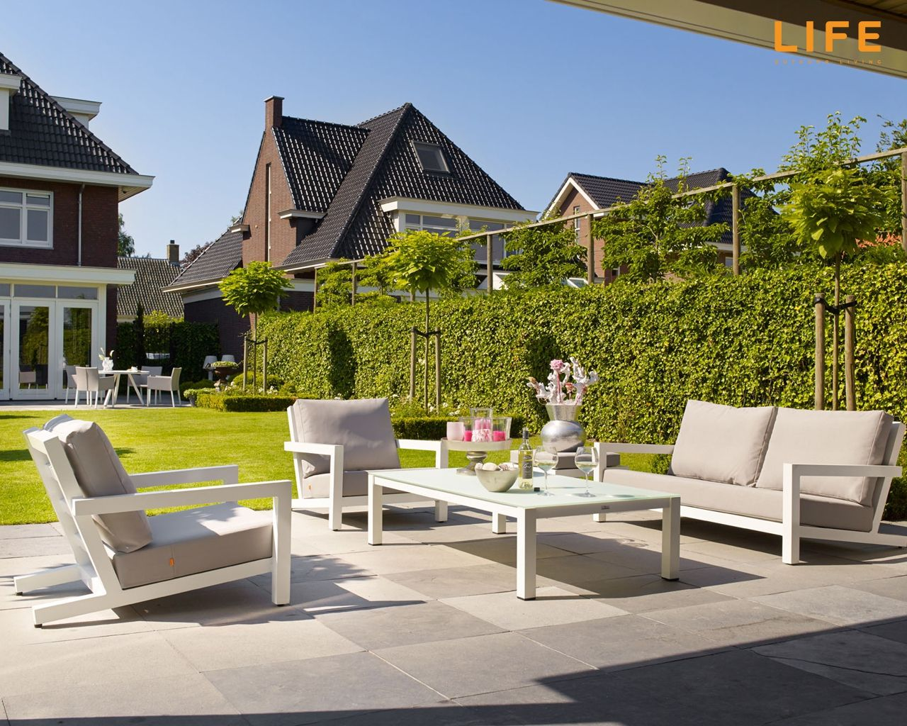 High Quality Lounge Set Block White | Garden Furniture Collection | LIFE Outdoor Living Part 26