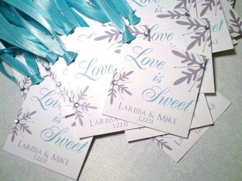 Snowflake Wedding or Bridal Shower Favor Hang Tags - @Lynn Warner ...