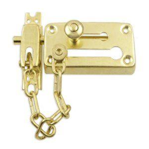 Heavy-Duty Combination Door Chain & Dead Bolt Lock Set by Pit Bull ...