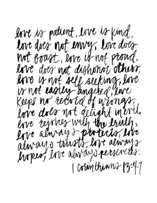 Quote Love Is Patient Glamorous Pinnancy Pecha On Faithful  Pinterest