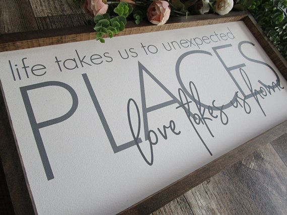 Framed Farmhouse Rustic Wood Sign Family Wood Sign Quote Life