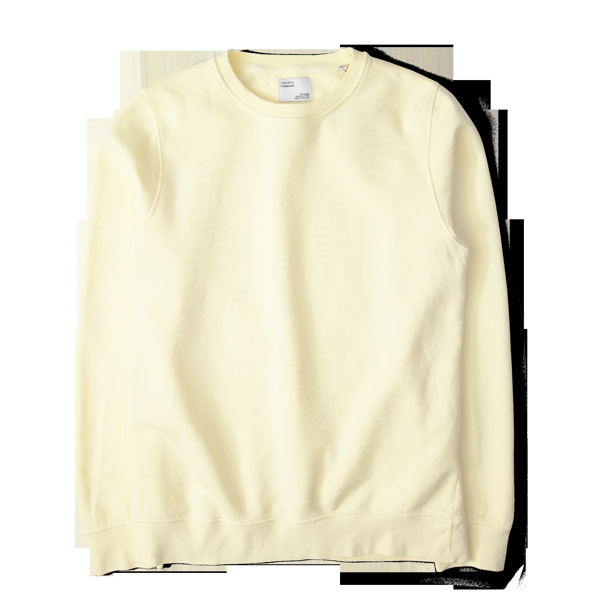 6f36b006ca99 Colourful Standard Classic Organic Crew Sweatshirt Soft Yellow Free  SHIPPING OVER £50.00 #grants1856 #