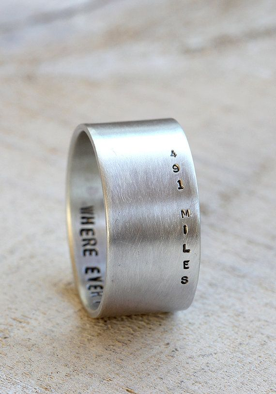 The Engraved Distance Ring Relationship Rings Love Ring Rings
