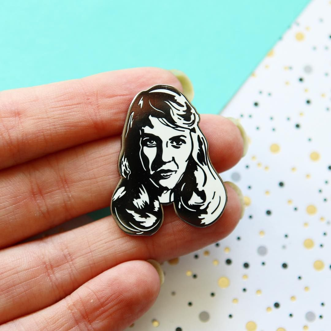 Sylvia Plath enamel pin badge. Book lover gifts from www