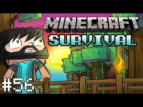 Minecraft : Survival Let's Play w/ Thinknoodles - Part 56 - Building a Stable