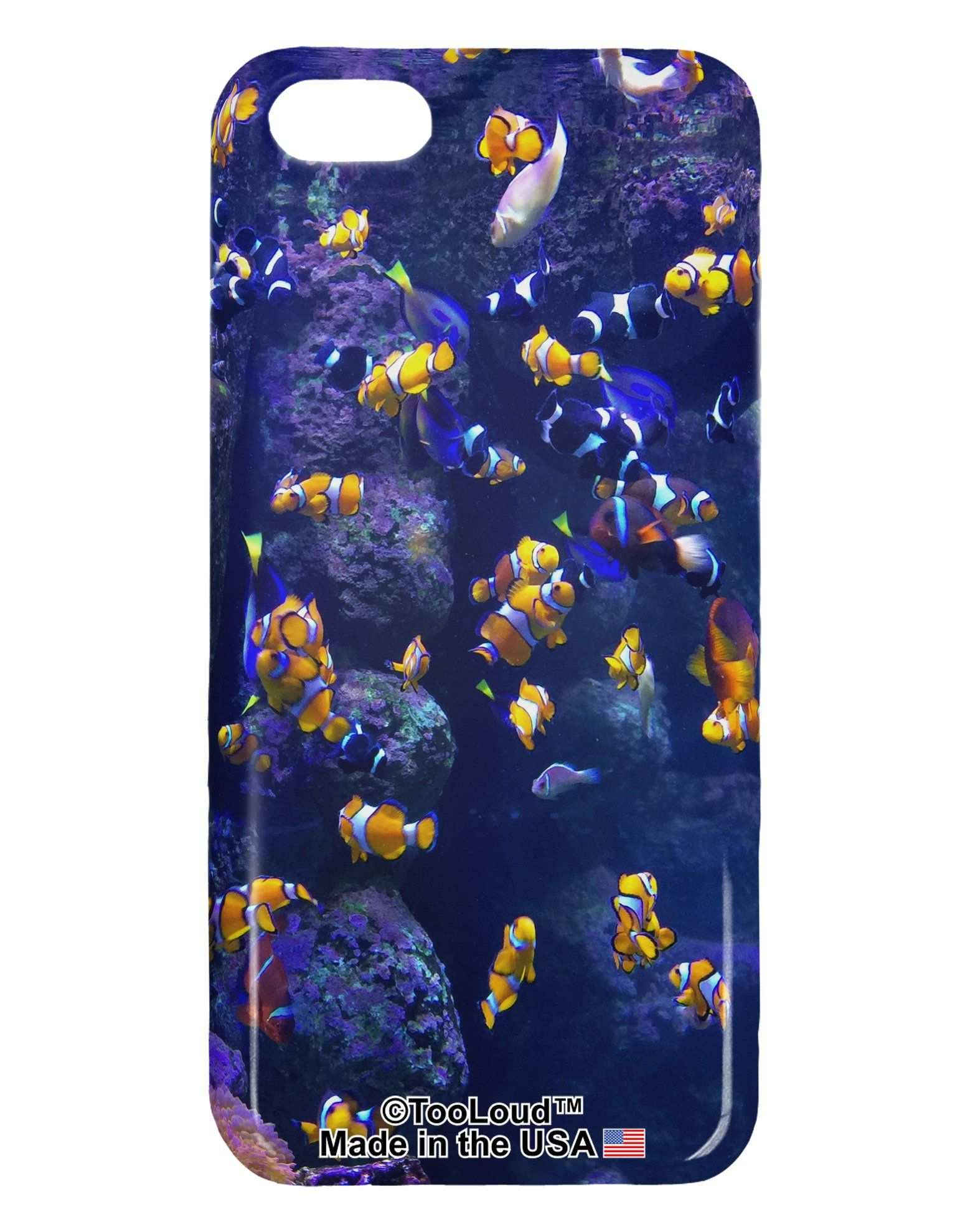 Underwater Ocean View Clownfish iphone 5C Plastic Case All Over Print by TooLoud