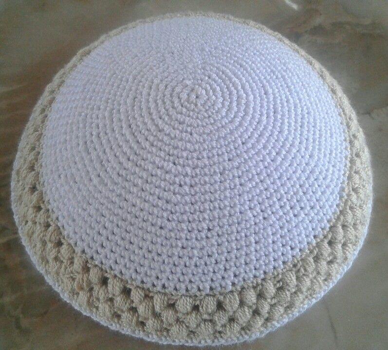 Kipa tejida en crochet. | kippot Handmade Andreoli | Pinterest