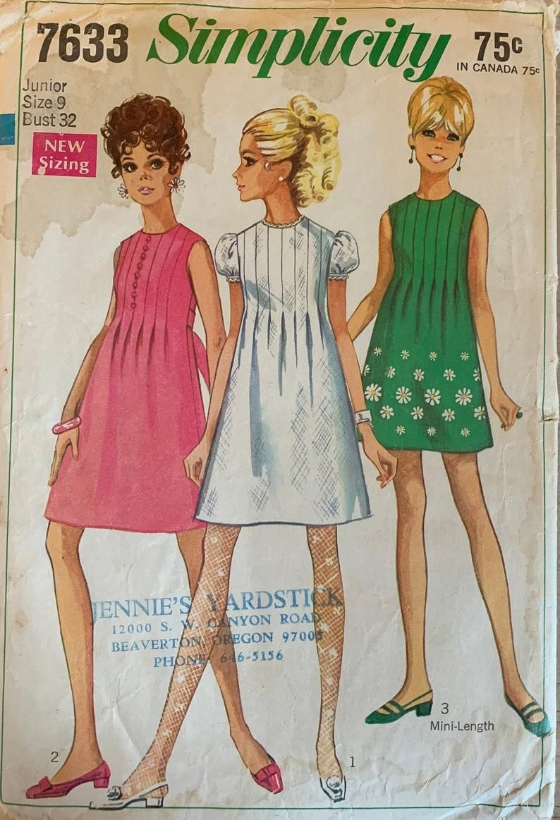 Vintage 1960s Sewing Pattern For Womens Dress With Sleeve Etsy In 2020 Vintage Dress Patterns Fashion Vintage Sewing Patterns