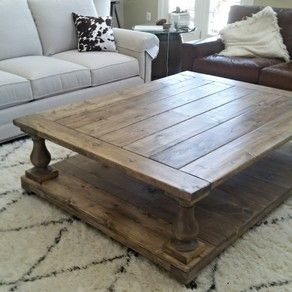 Love This Oversized Balustrade Coffee Table From Farmhouse Living