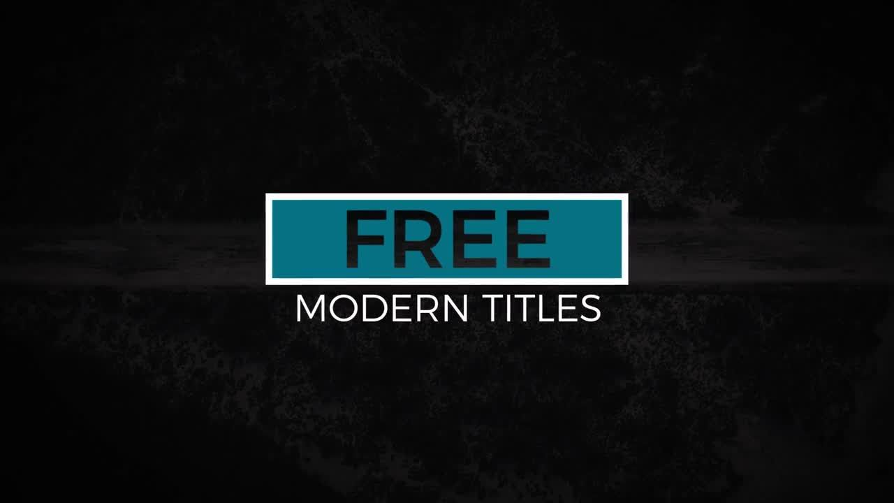 12 Free Modern Titles Is A Fantastic After Effects Template That