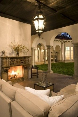 mediterranean patio by John Kraemer & Sons
