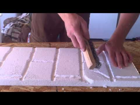 how to carve foam bricks for your haunted house or attraction part 6 youtube crafts fake. Black Bedroom Furniture Sets. Home Design Ideas