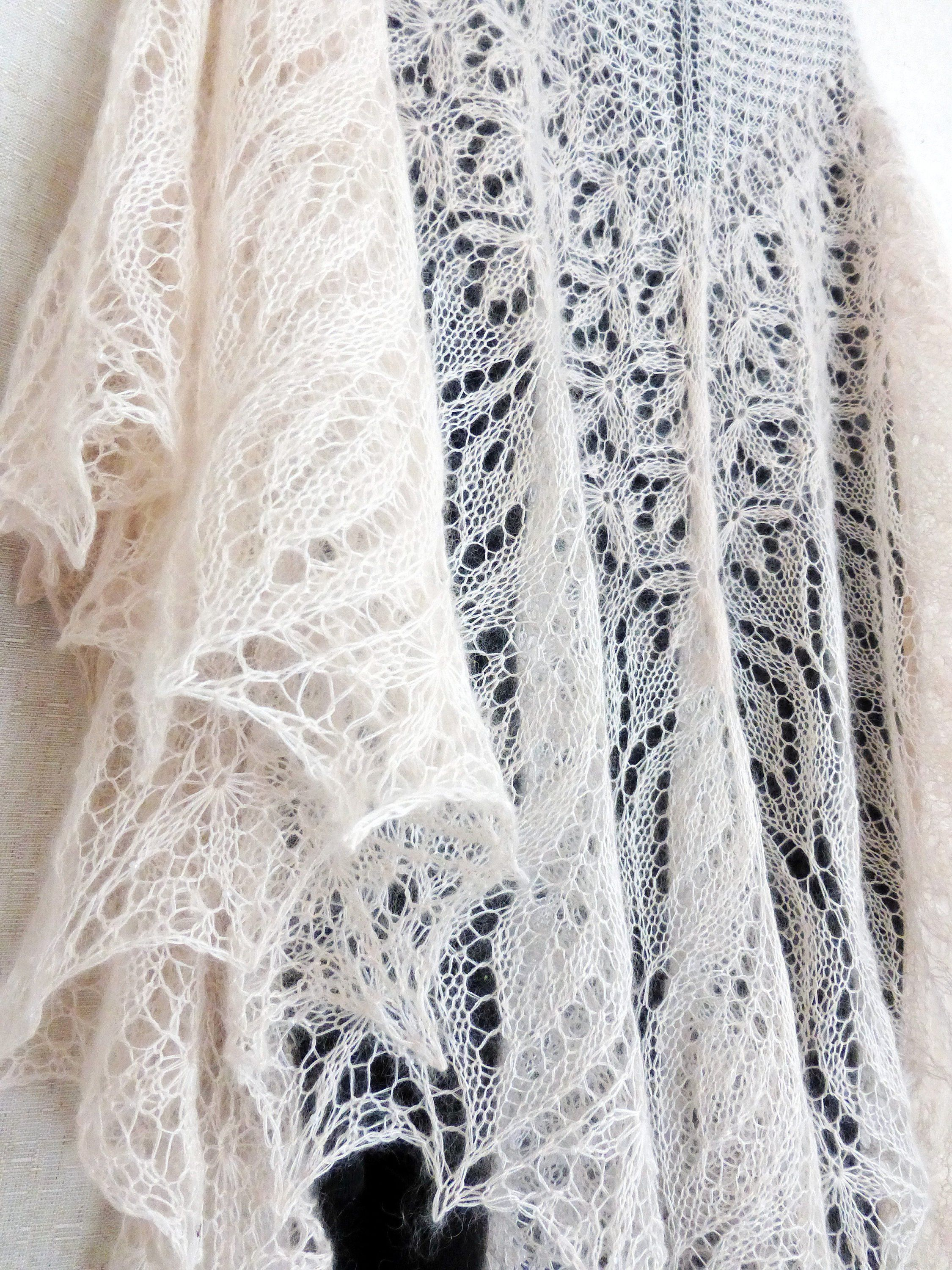 Mohair shawl knitted lace shawl winter wedding bridal wrap knit