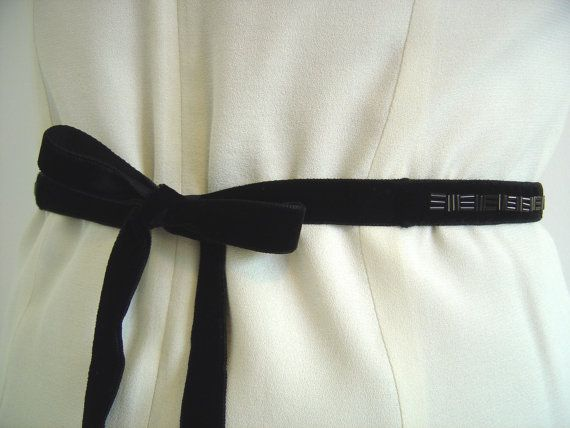 d5c9a708d2f3 Black Beaded Velvet Sash, Bridal Sash Belt Hand Beaded by lauratoal