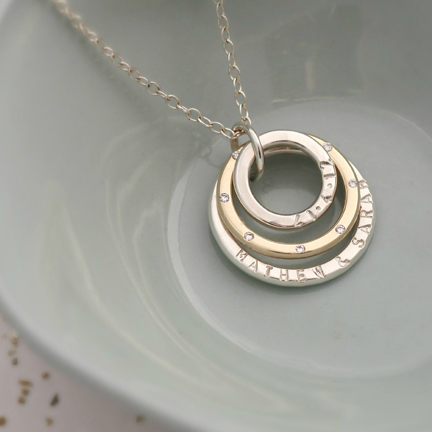 Personalised Family Names Diamond Necklace A stunning gift to give ...