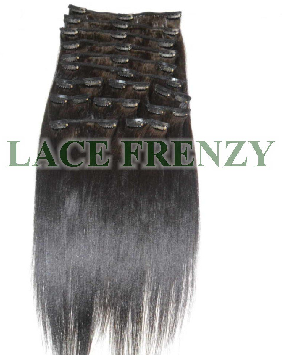 Grade 6a Virgin Italian Yaki 14pcs Clip In Hair Extensions