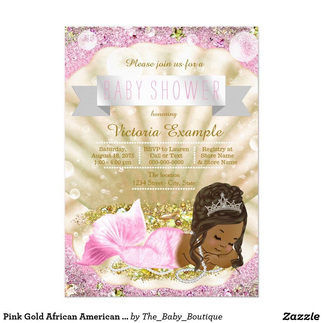 African American Princess Baby Shower Girl Purple Card   Girl Baby ...