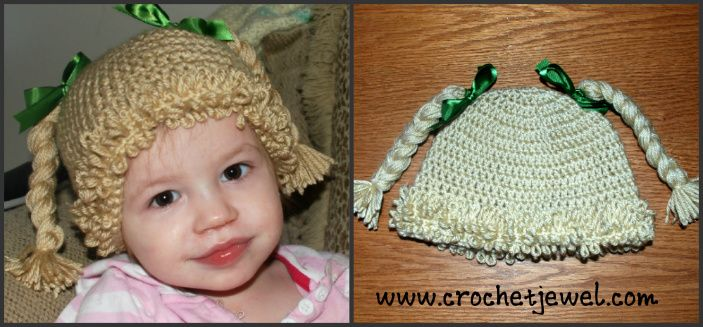 Crochet Inspired Cabbage Patch Hat With Video All Sizes Crochet