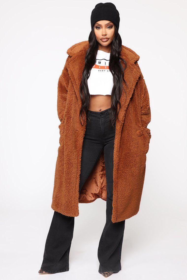Cover Girl Teddy Coat Brown Teddy coat, Coat, Teddy
