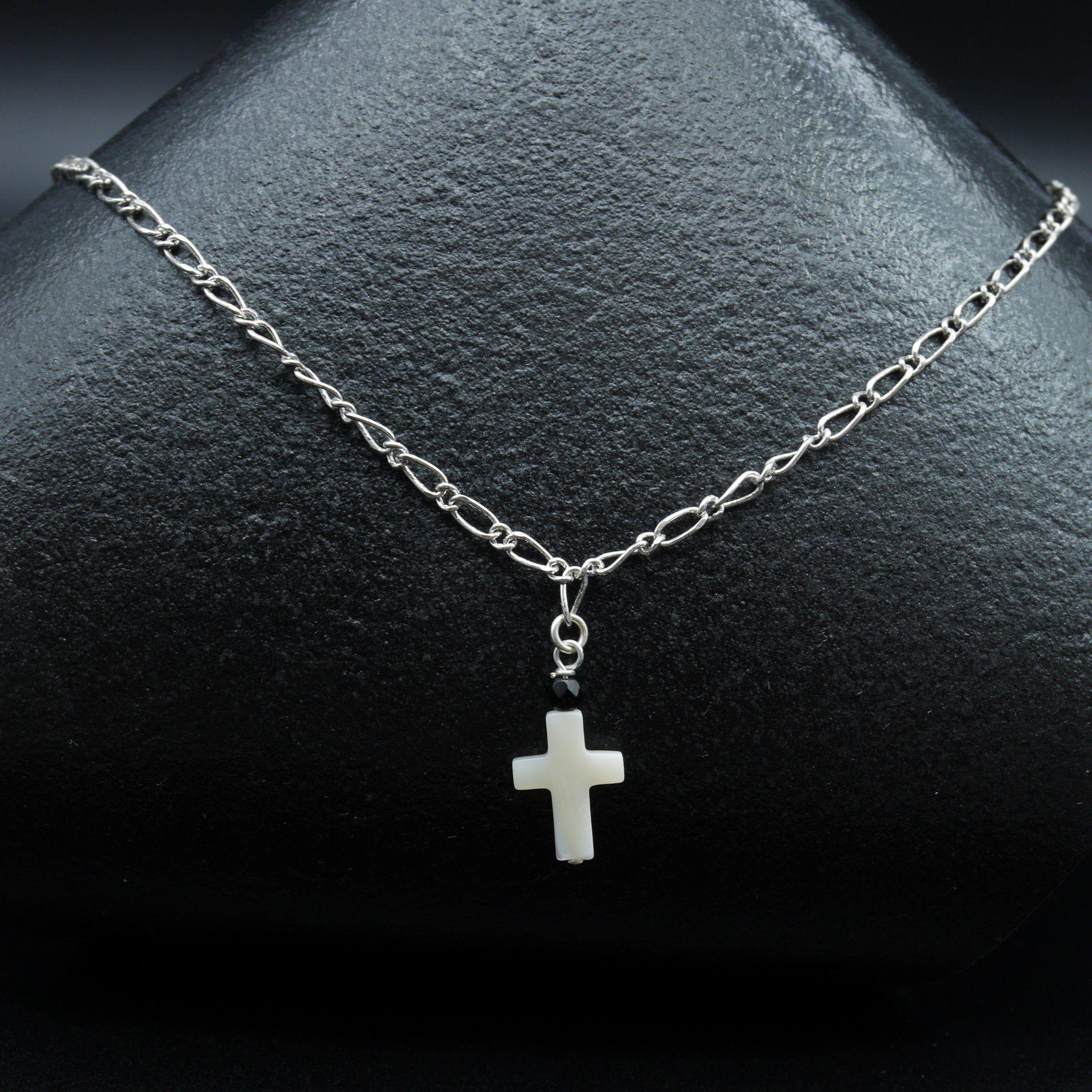 Chaîne et croix en nacre pour homme | Etsy | Jewelry, Necklace ...
