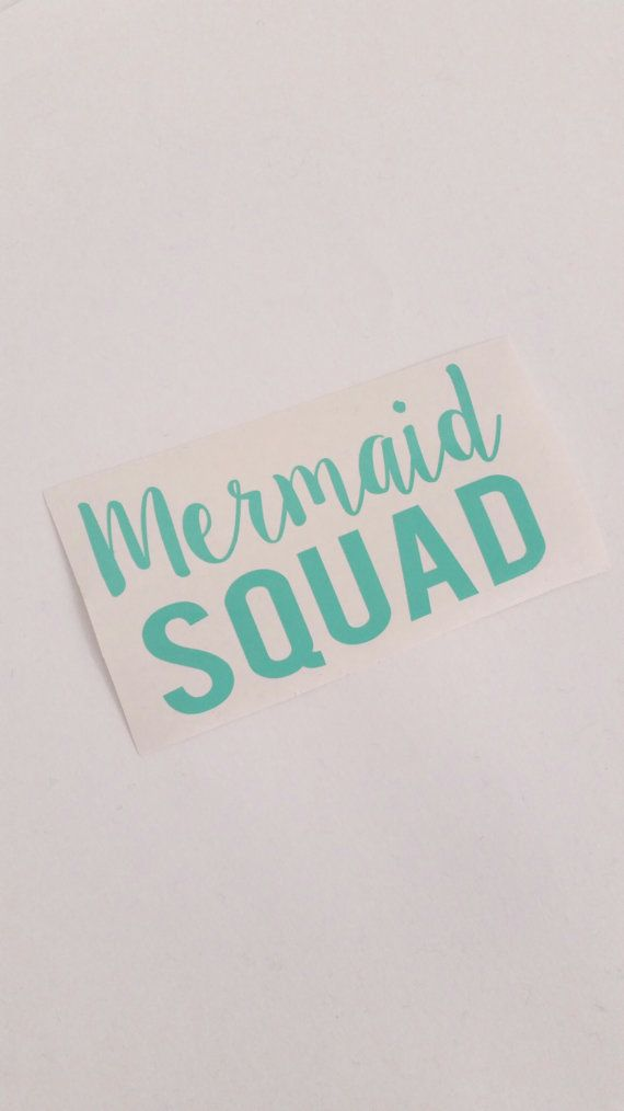 Mermaid squad decal sticker laptop decal mermaid sticker mermaid decal squad goals vinyl
