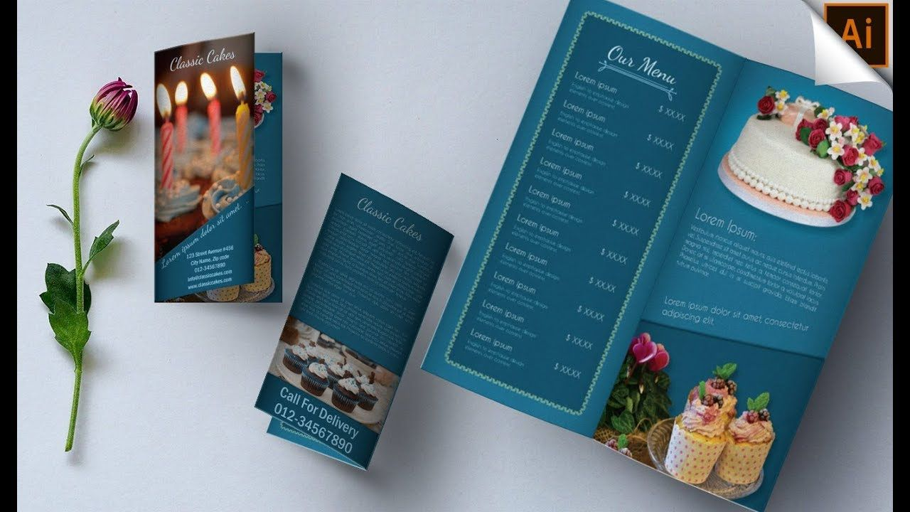 Illustrator Tutorial Bi Fold Brochure Design Classic Cakes Illustrator Tutorials Brochure Design Template Bi Fold Brochure