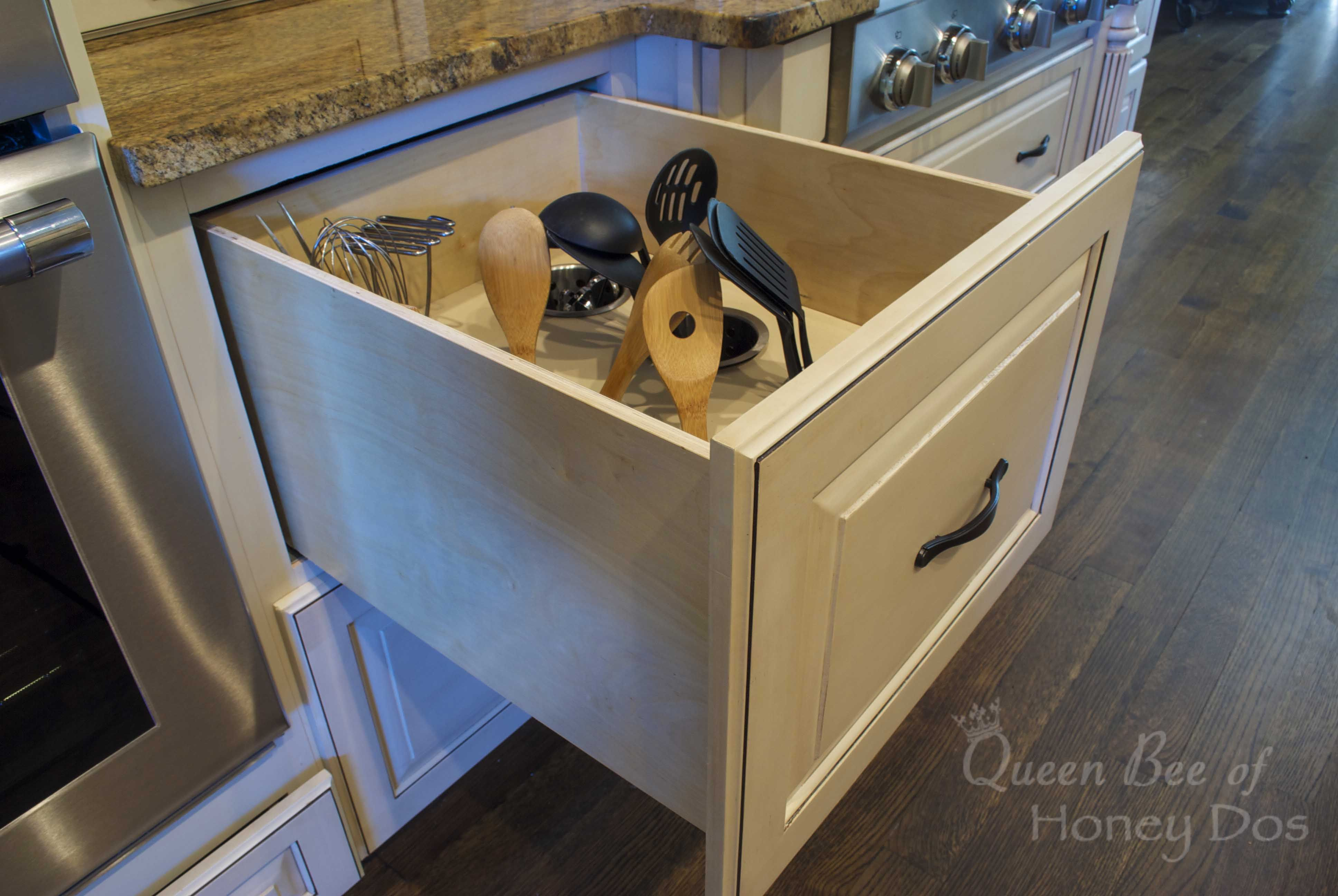 Diy Kitchen Utensil Drawer Organizer Upright Utensils Deep Drawer