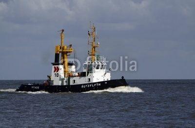 Schlepper Bützfleth auf der Nordsee