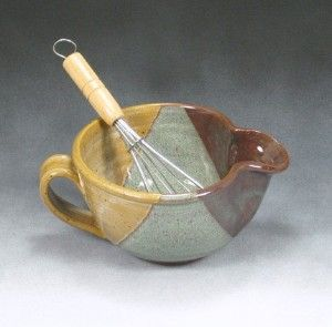 mixing bowl. Try to recreate with Jen's yellow and randy's red over celadon with speckled clay