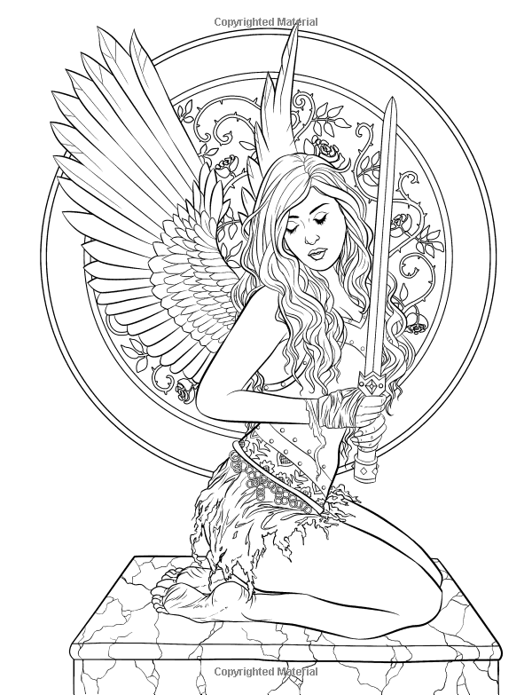 Gothic Dark Fantasy Coloring Book Arte De La Fantasia Para Colorear De Selina Volumen 6 Selina Fenech Fairy Coloring Pages Fairy Coloring Coloring Books