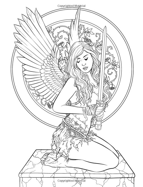 Gothic Dark Fantasy Coloring Book Arte De La Fantasia Para Colorear De Selina Volumen 6 Selina F Fairy Coloring Pages Fairy Coloring Fairy Coloring Book