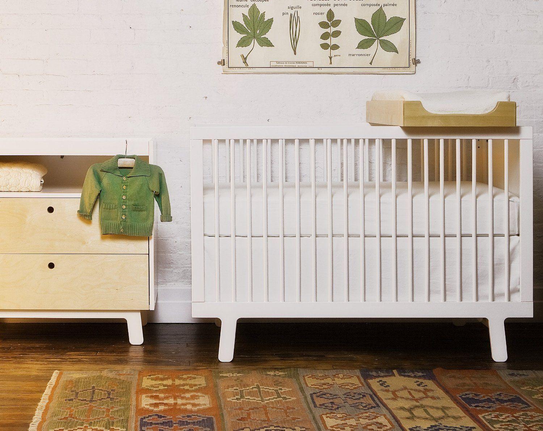Oeuf Sparrow Crib, White Baby Cribs