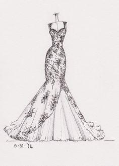 High Fashion Dress Sketch Google Search Croquis De Moda
