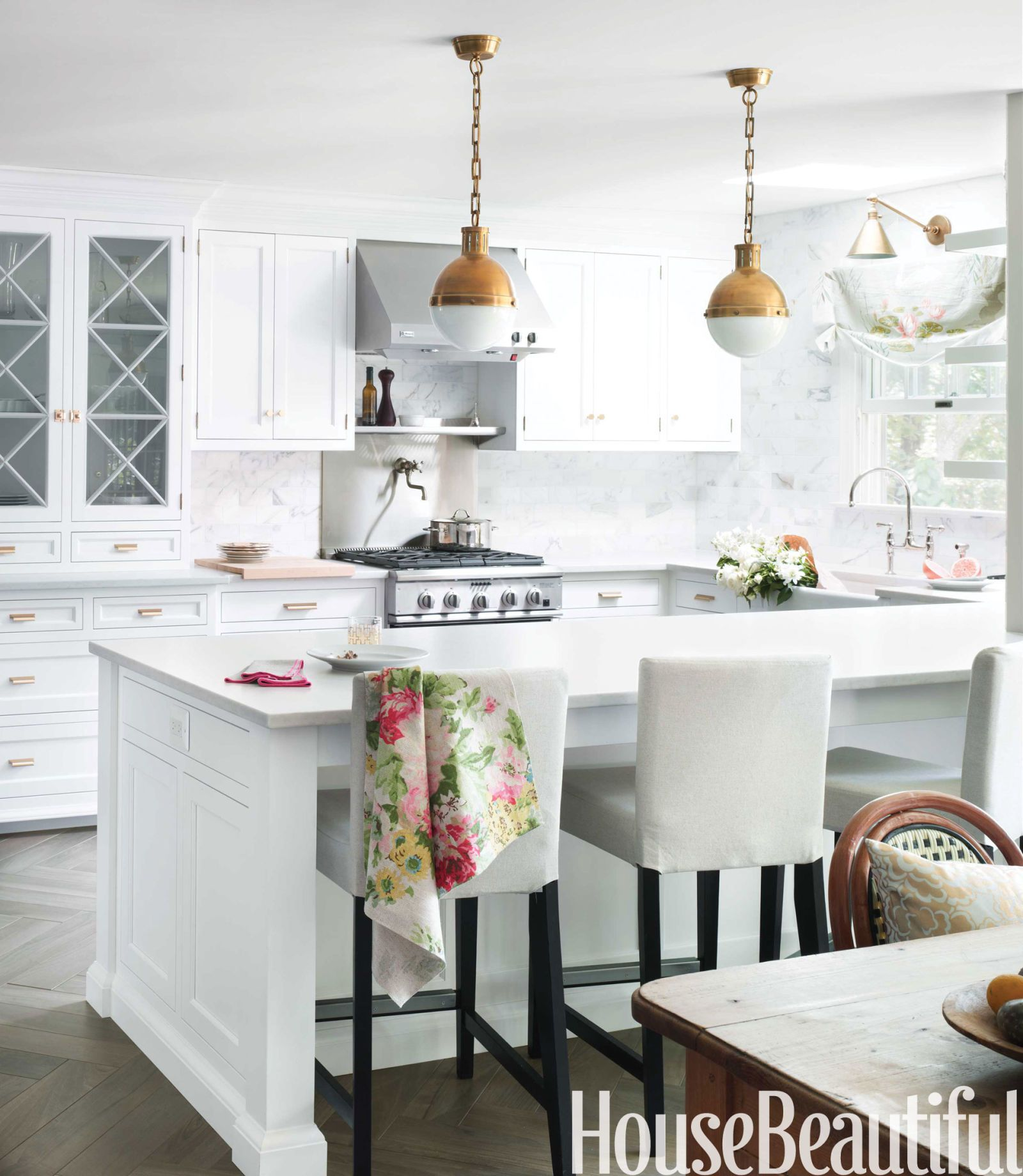 A Classic White Kitchen in New Jersey | Silestone countertops, Circa ...