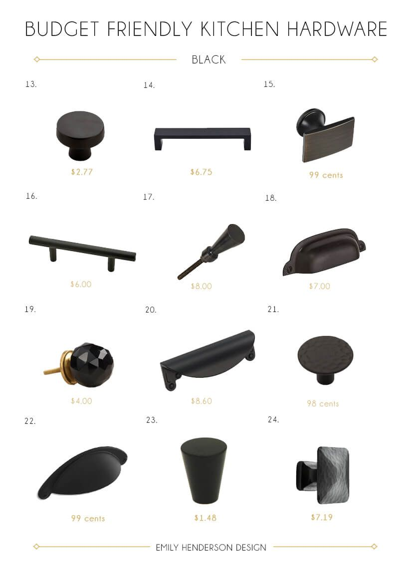 Budget Friendly Black Kitchen Hardware Knobs And Pulls