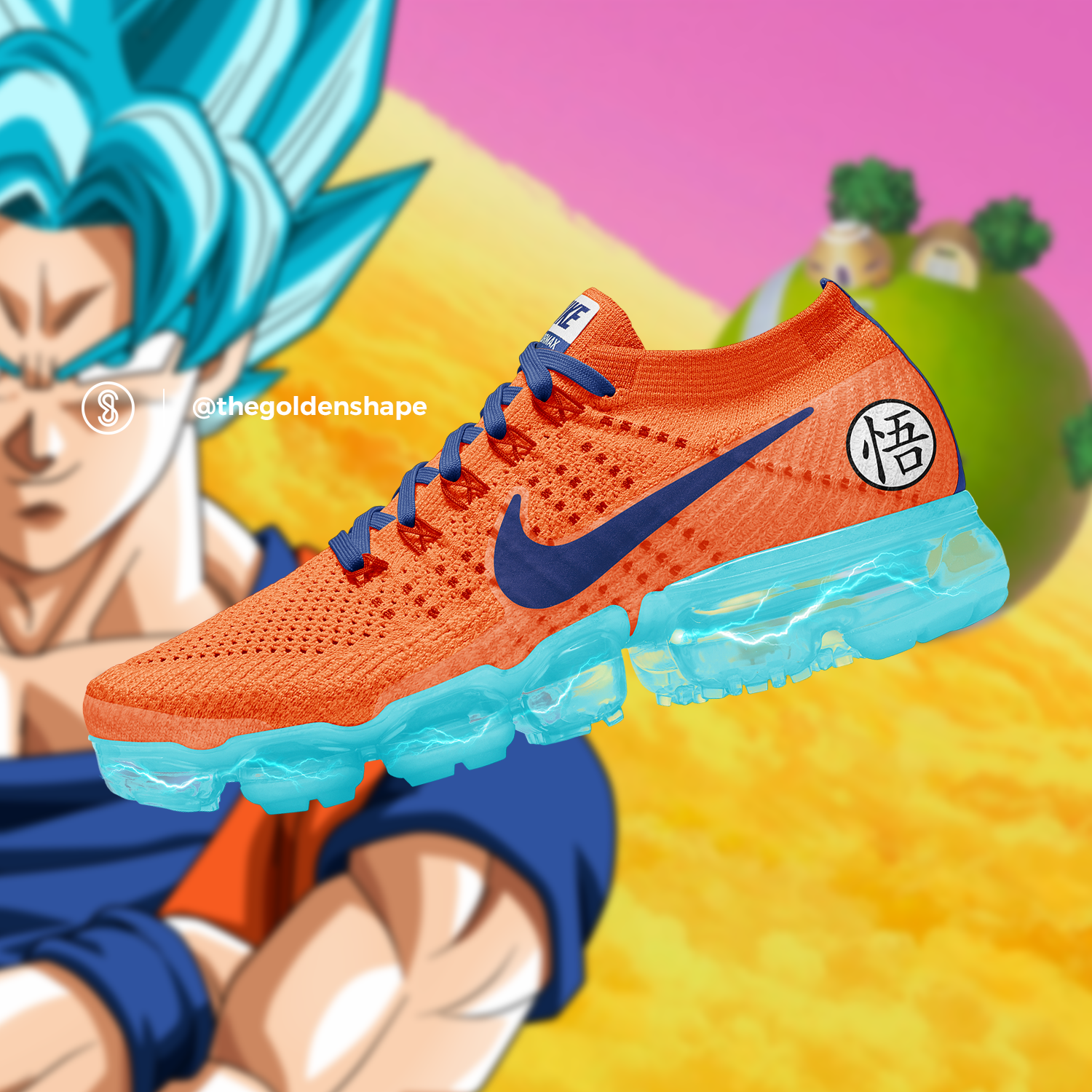 fc977a7c17e Nike x Dragon Ball Super VaporMax Son Goku Super Saiyan Blue