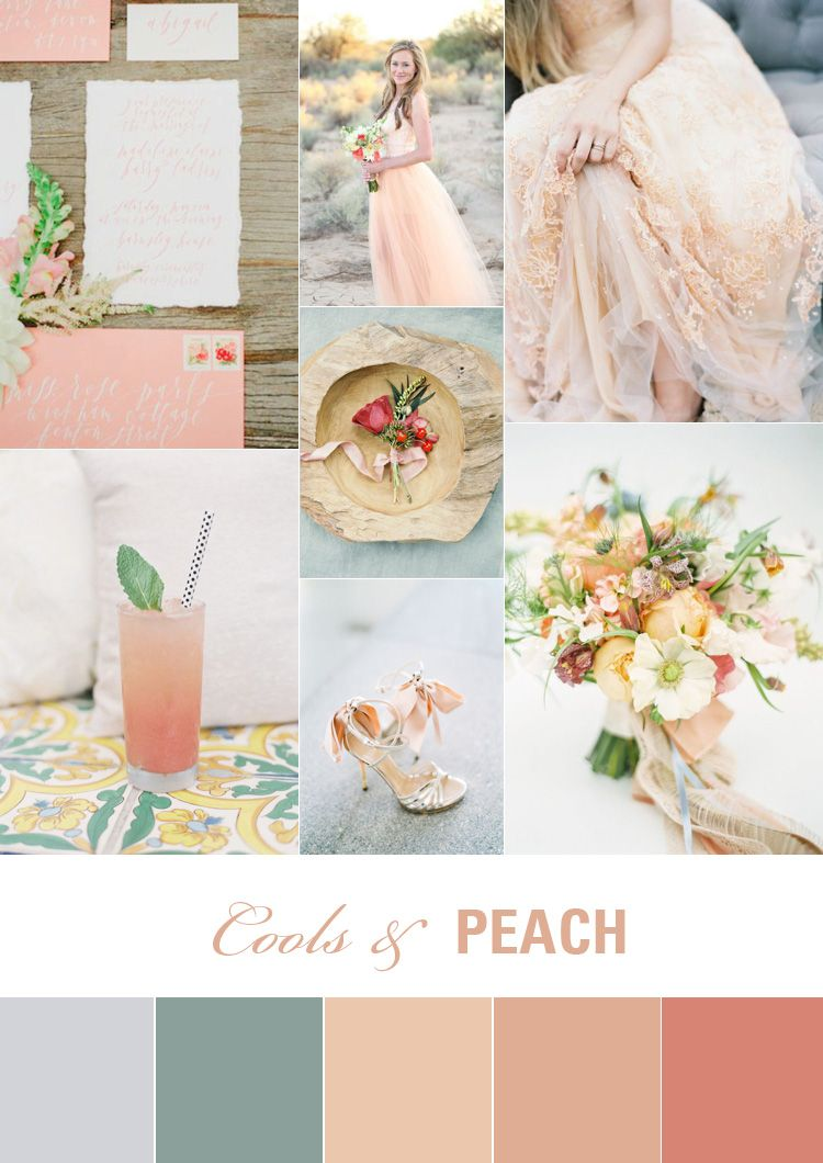 Cools and Peach Wedding Colour Inspiration | Peach wedding colors ...