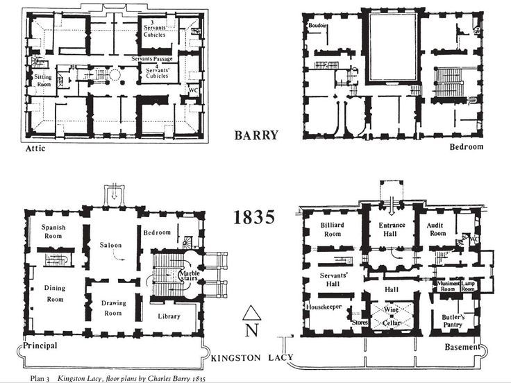 kingston lacy house plan