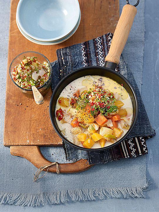 Steckrübeneintopf mit Möhren, Kartoffeln und Gremolata