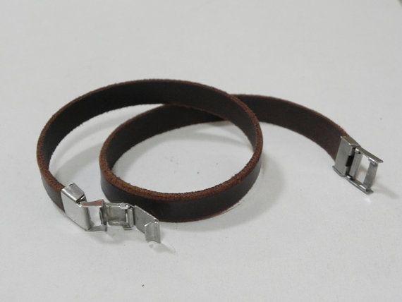 Cuero pulsera brazalete pulsera cuero Wrap Pulsera de por BeadSiam