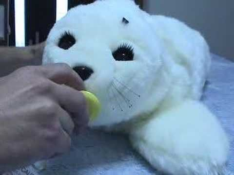 Paro Is An Interactive Healing Pet For Animal Therapy So Cute Pets Animals Robot Design