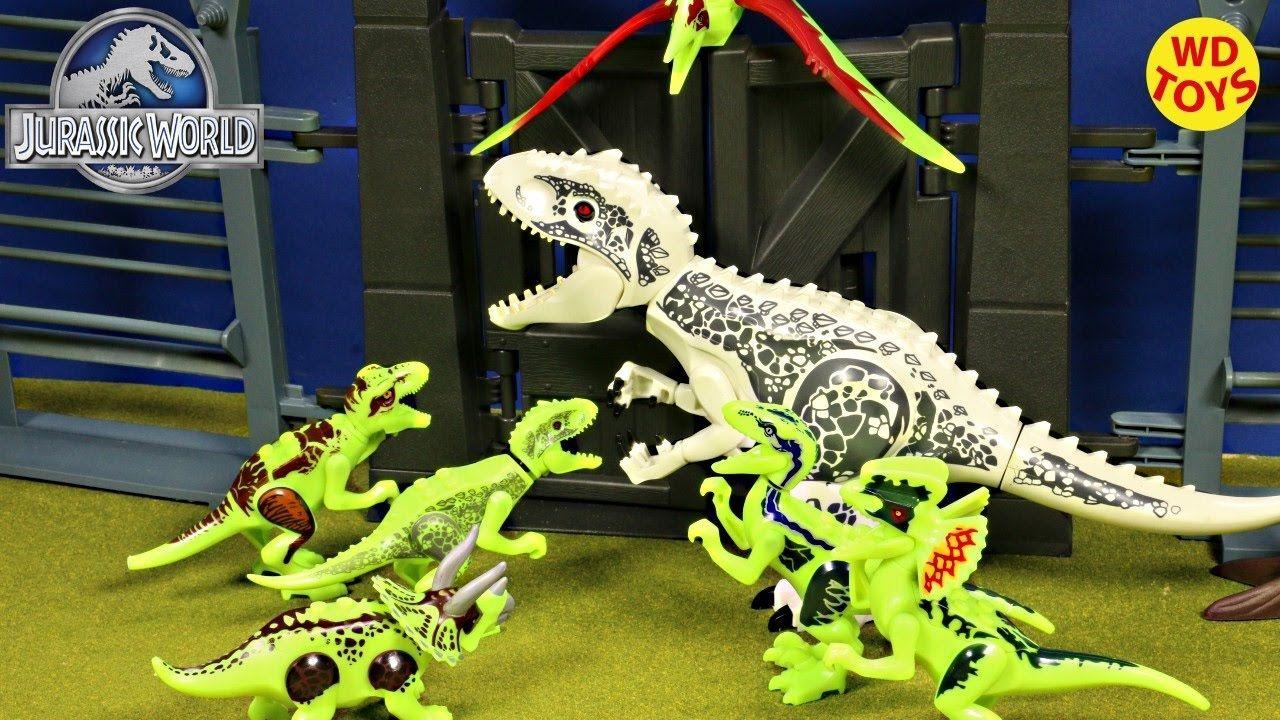 New 10 Jurassic World Lego Dinosaur Toys Animated