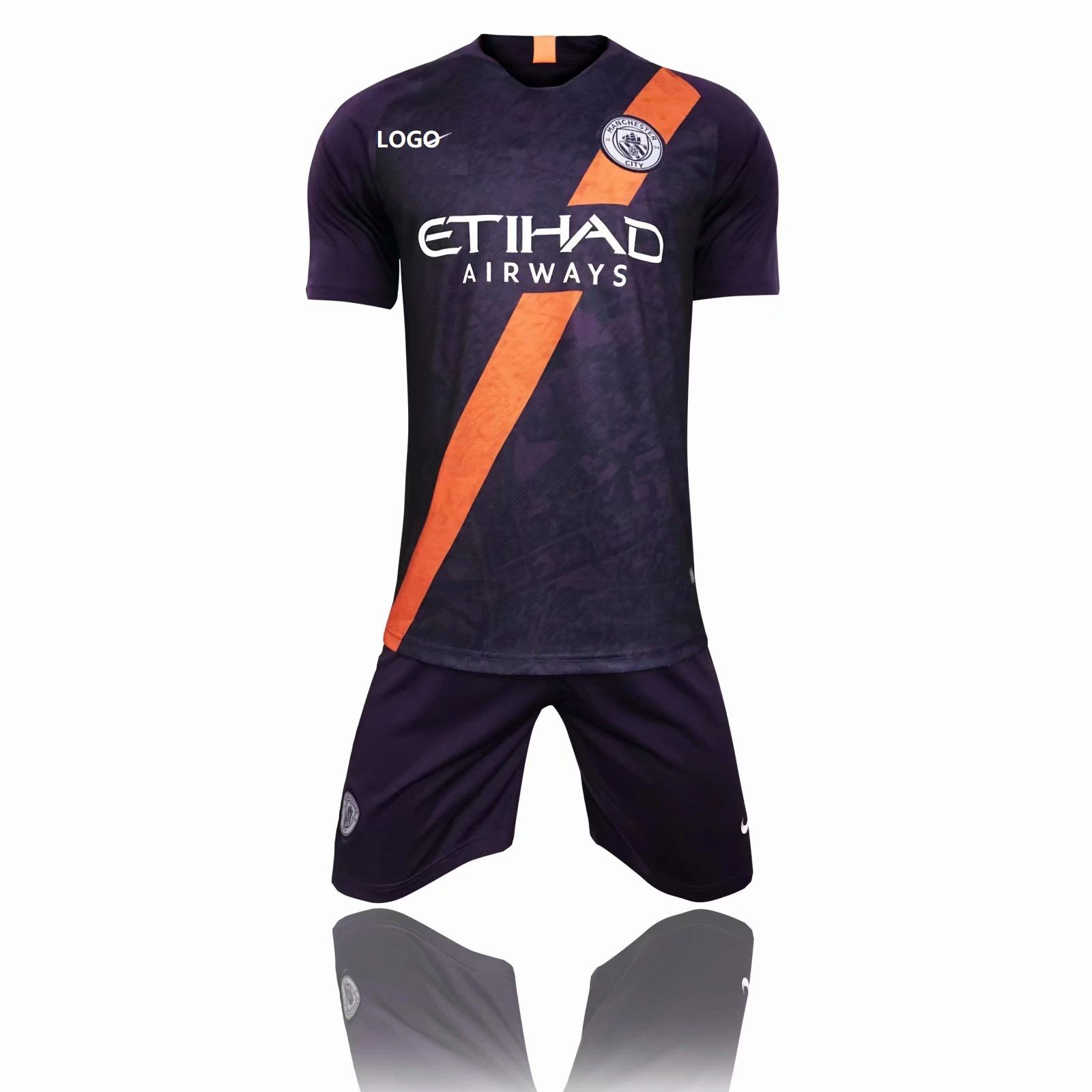 3e85889fa6 2018 19 AAA Men Manchester City third away Soccer Jersey Uniform Adult  Football Kits