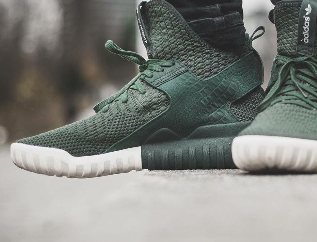 adidas Originals Tubular X Primeknit: Shadow Green