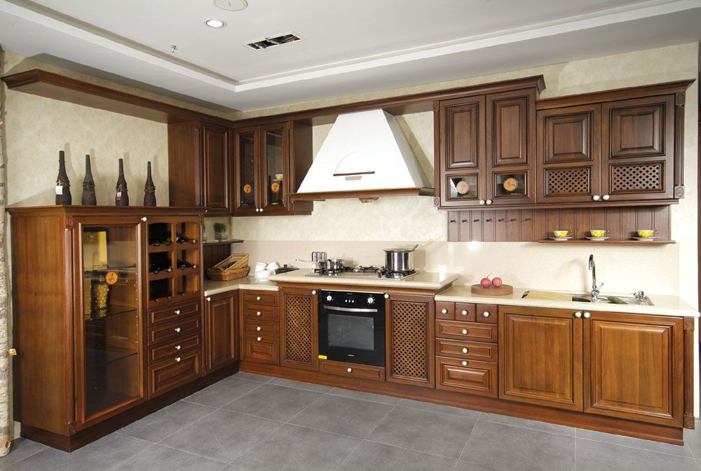 Choosing new cabinet How about wooden kitchen cabinet