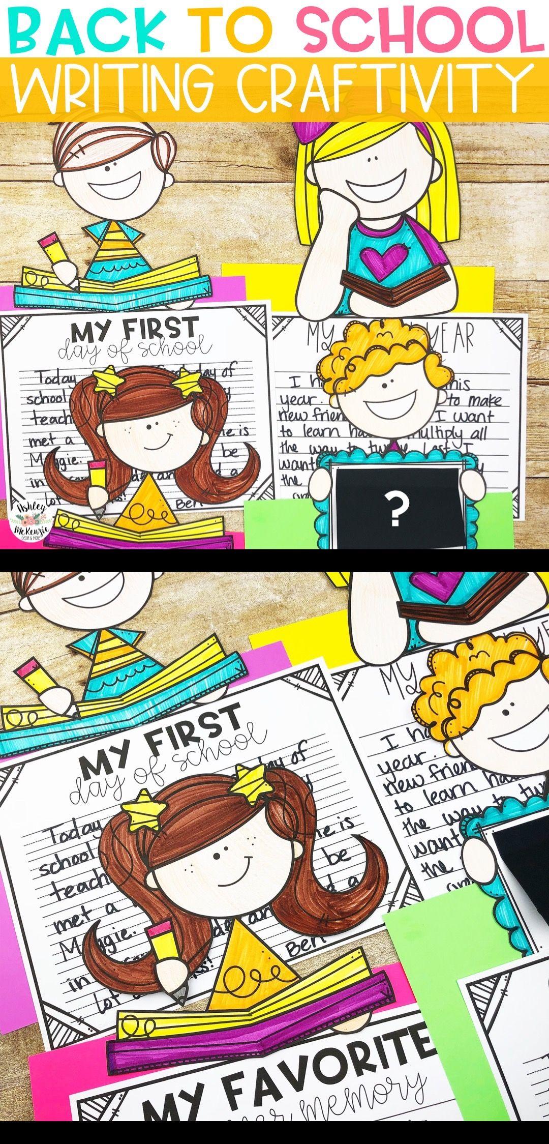 Back To School Writing Craftivity